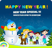 new year wishes wallpaper by kids