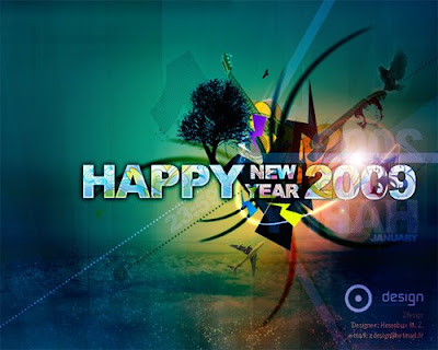 2009 New Year Wallpaper