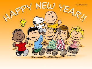 Cartoon New Year Wallpaper