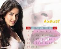 Katrina Kaif 2010 August Calendar