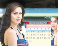 Katrina Kaif 2010 May Desktop Calendar