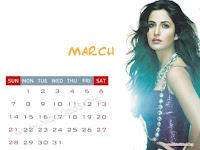 Katrina Kaif 2010 March Calendar