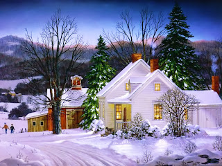 New Year Winter Snow Wallpaper