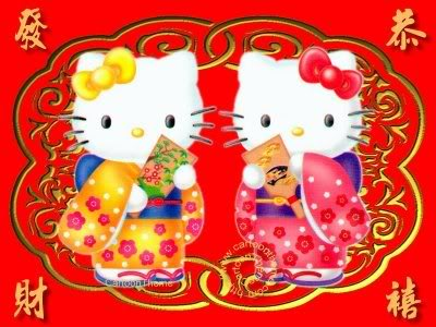 Hello Kitty New Year Collection Cute Chinese