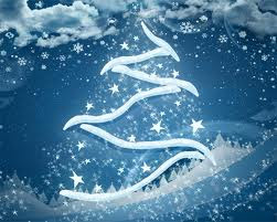 snowflake background for new year