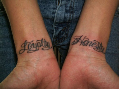 Handwritten script tattoos are a special choice of body art - a chance to