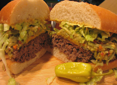 Fat Johnny's Front Porch: Muffaletta Burger Poboy
