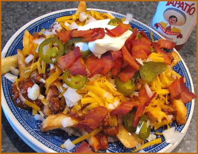 homemade chili con carne, Burgers Smokehouse bacon, Tillamook cheddar ...