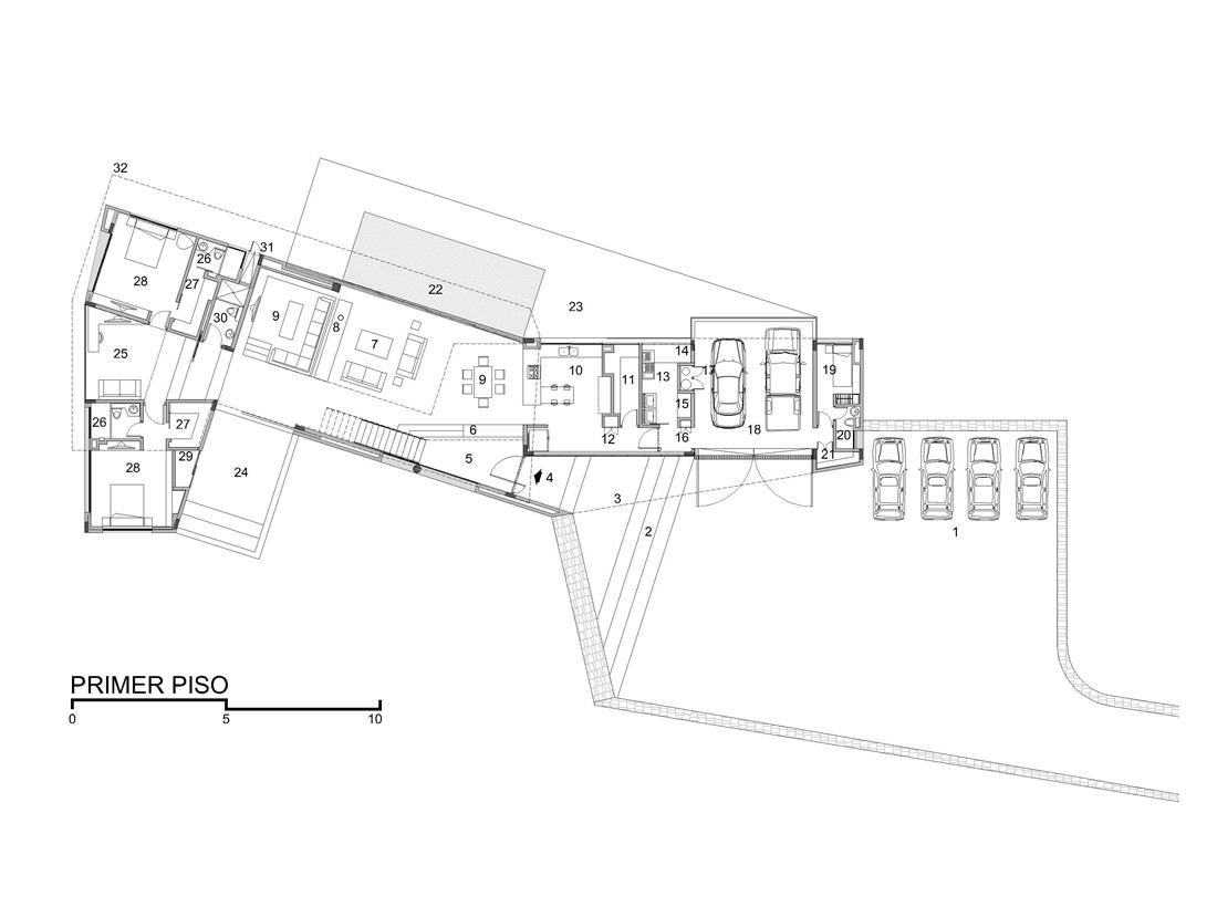 Proyecto de arquitectura en colombia casa minimalista Planos de casas en autocad