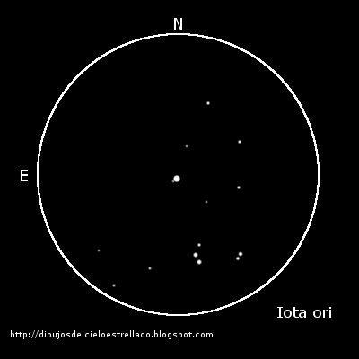 Iota Orionis y STF747 en Orión Iota+ori