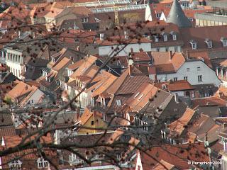 Alemania, Heidelberg, tejados, Weihnachtmarkt