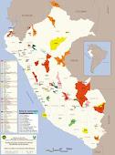 Mapa del Sistema Nacional del Areas Naturales Protegidas