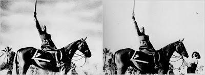 Mussolini a caballo