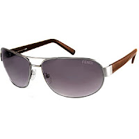 Fendi 398M Metal Navigator Sunglasses