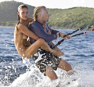 richard branson windsurfing with naked model