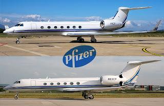 pfizer gulfstream jets for sale