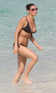 demi moore black bikini