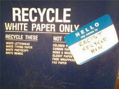 racist recycle bin