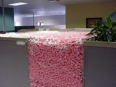 foam in cubicle
