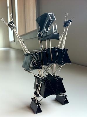 paper clip office monster