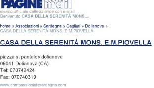 Registrato su Pagine Mail