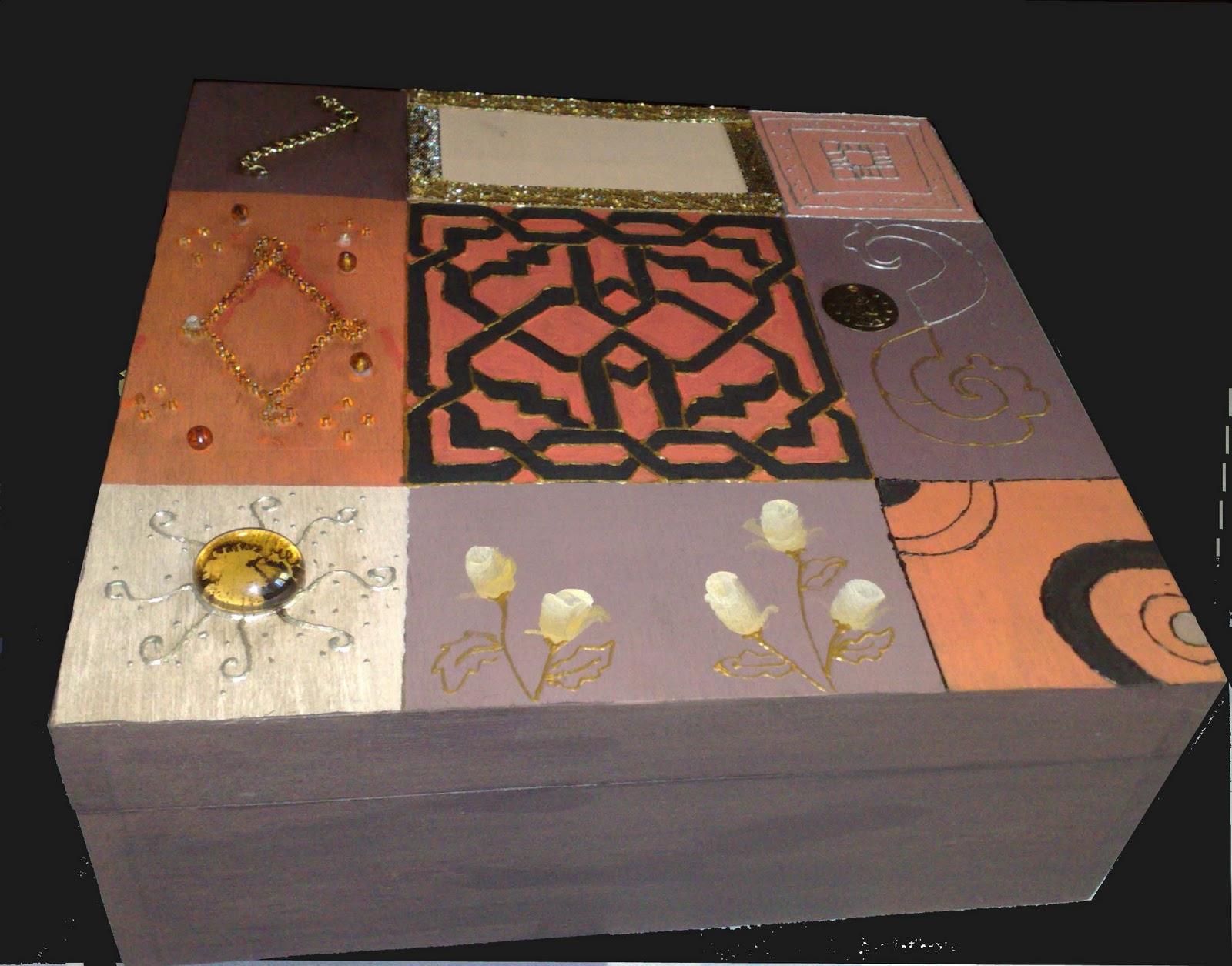 Manualidades y otros entretenimientos decorar una caja - Manualidades cajas madera ...