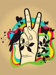 hand peace symbol lambang peace