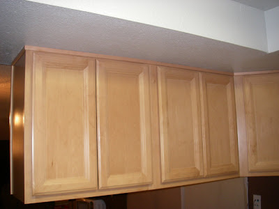 Molding Was Installed Where The Cabinets Meet The Ceiling.