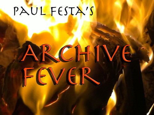 Paul Festa's Archive Fever