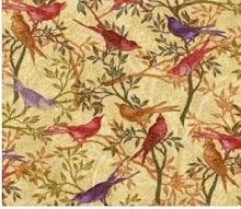 Birds Botanical Fantasy