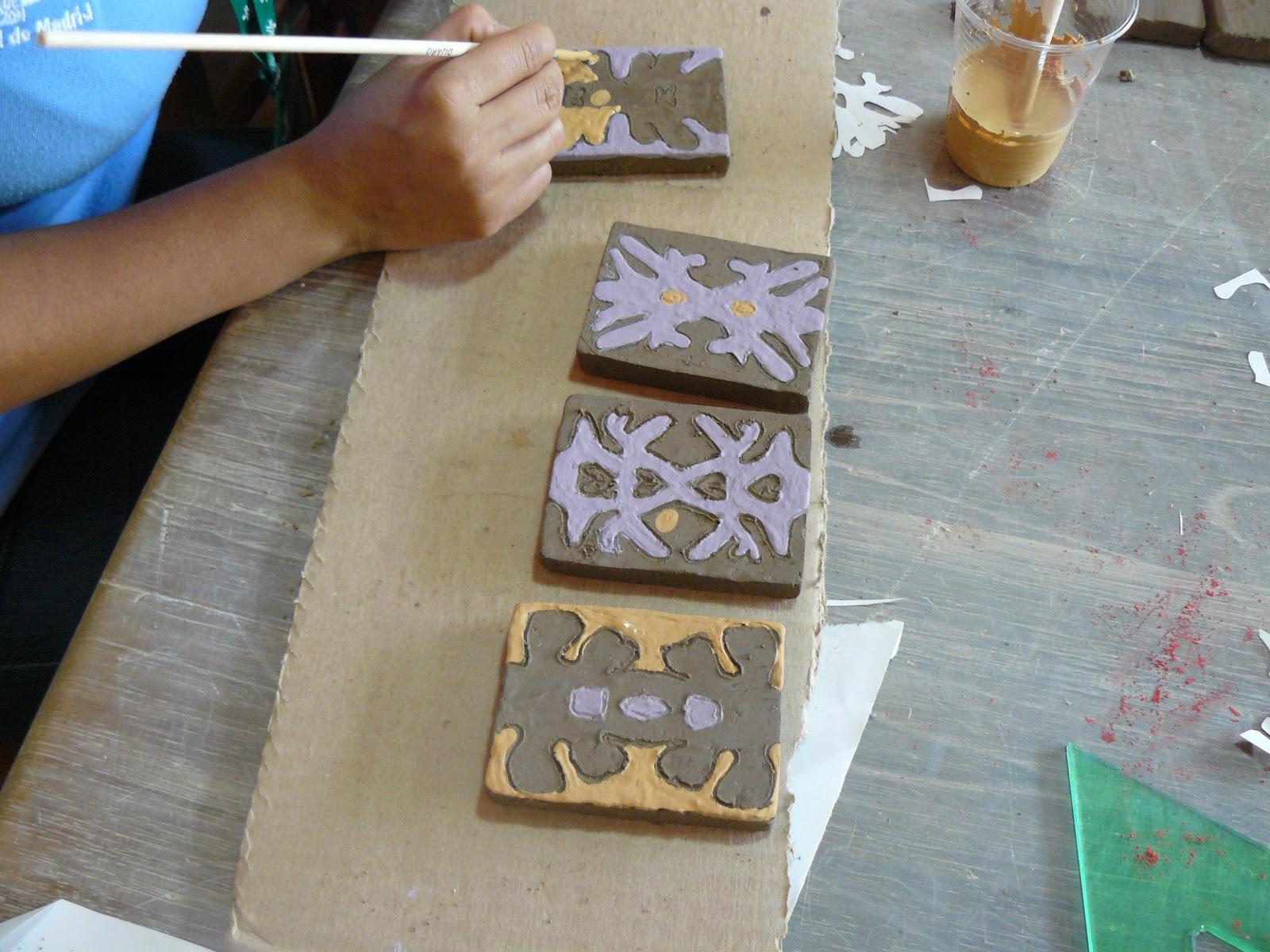 Decoracion de baldosas y ceramica utilitaria Baldosa ceramica