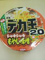 日清デカ王シャキシャキもやし味噌を食べた感想の巻。