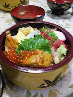 特上海鮮丼1800円の巻。