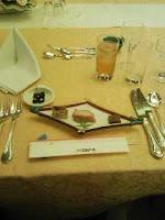 嫁のいとこの結婚式披露宴で次々に出てきた食事。