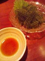 埼玉同友会東部地区会のIT未来委員会の懇親会で食べた海ぶどう。