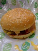 マクドナルドのダブル月見バーガーを食べた感想。