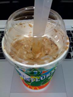 マクドナルドのマックフルーリー、クッキー&ショコラを食べた感想