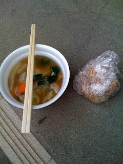 越谷市大沢地区総合防災訓練の炊き出し