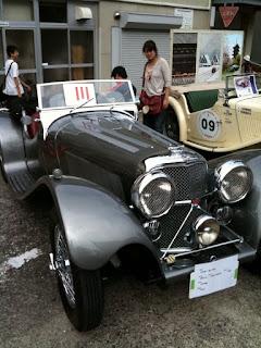 越谷市民まつりクラシックカー展示ジャガーSS-100