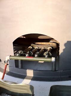 こしがや産業フェスタ2010の鴨ネギ鍋準備中