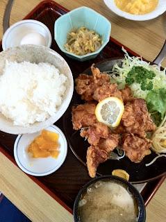 から揚げ定食¥900