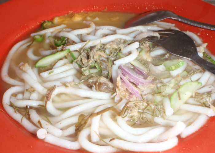 laksa kuala kedah. Laksa with yellow sambal and