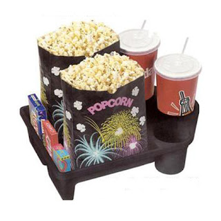 Large Snack Tray With Cup Holders For Home Theater Seating And Movie Chairs