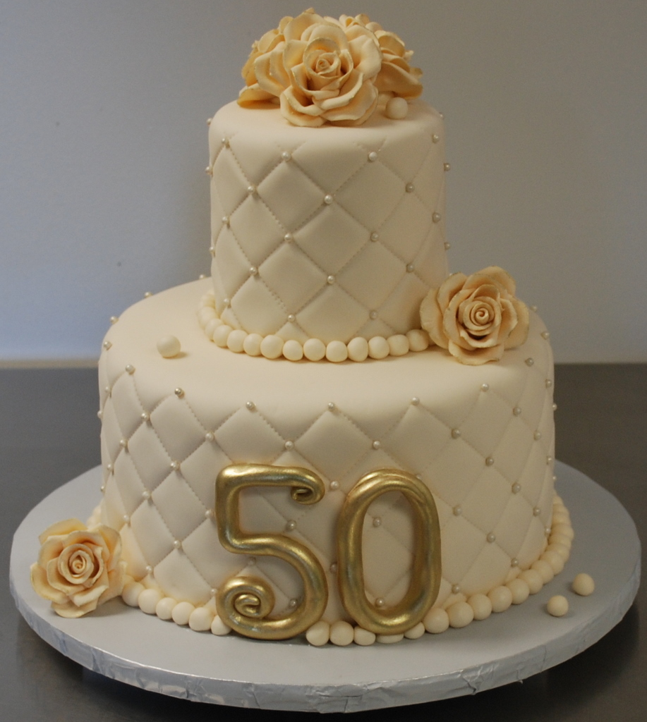 The bakery next door 50th wedding anniversary cake for 50th birthday cake decoration ideas