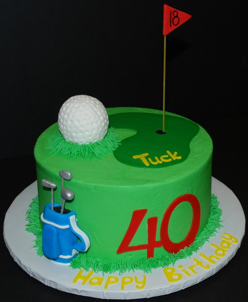 Buttercream Golf Cake