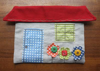little house pouch Carteira casinha para crianças