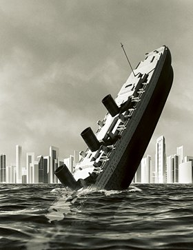 How the fook will we cope Sinking Ship Image