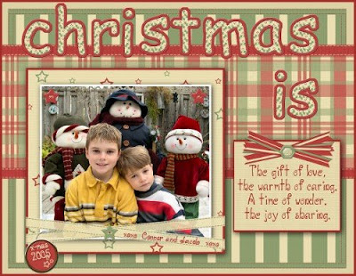 ideas for Christmas scrapbook