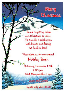 Christmas Party Invitation Cards, Free Christmas Party Invitations