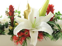 christmas table flower arrangement ideas